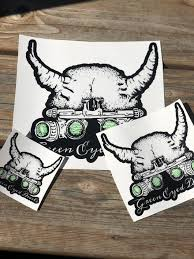 Green Eyed Devil Clear Vinyl Decal Green Eyed Devils