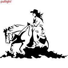 Cowgirl Horse Rodeo Western Cowboy Fashion Vinyl Car Styling Stickers Decals Vinyl Decal Decal Stickersticker Vinyl Aliexpress