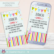 Invitacion Digital Cumple Feliz 2 Cukero