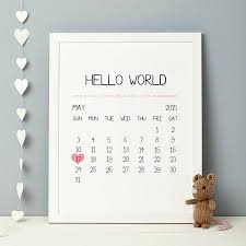 personalised baby birth date print by