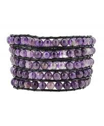 womens leather simulated amethyst