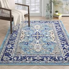 scollo dark blue black gray area rug