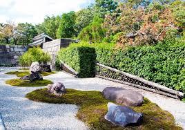 japanese zen gardens stock image