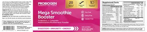MEGA SMOOTHIE BOOSTER (Immune Support) (Probiotics + Complete ...