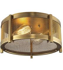 13 inch aged brass flush mount ceiling