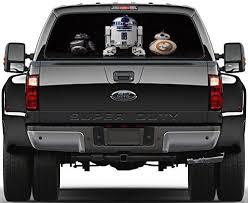 Amazon Com Star Wars Droids R2d2 Bb 8 Bb 9e Rear Window Decal Sticker Car Truck Suv Van 767 Huge Home Kitchen