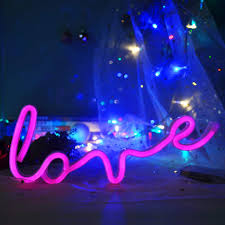 Neon Love Sign Neon Light Up Signs Led Signs Wall Lights For Room Home Kid Bedroom Wall Decoration Dorm Decor Night Light Party Supplies Amazon Com