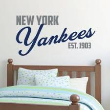 New York Yankees Yankee Wall Decal Baseball Decorations Customvinyldecor Com