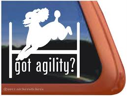Got Agility Poodle Agility Dog Decals Stickers Nickerstickers