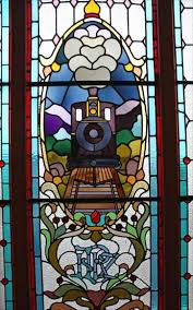 stained glass window dunedin railway