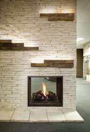 modern fireplace stones rocks