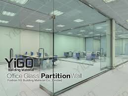 office space interior glass wall cost