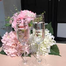 Bridesmaid Maid Of Honour Personalized Wedding Champagne Flute Glass Stickers Custom Name Vinyl Decal Glass Not Included Party Diy Decorations Aliexpress