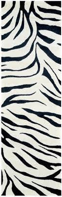 animal print wool runner rug