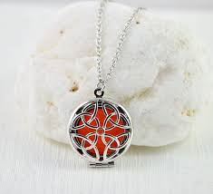 silver aromatherapy diffuser necklace