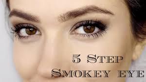 smokey eye 5 steps makeup tutorial