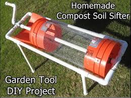 homemade post soil sifter garden