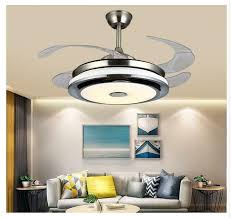 remote invisible ceiling fan light led