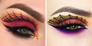 spiderweb eye makeup will
