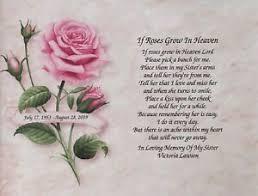 sister personalized sympathy poem