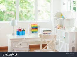Kids Bedroom Wooden Desk Doll House Education Stock Image 1296844573