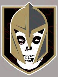 Golden Knights Logo With Misfits Skull In Helmet Vinyl Decal Sticker O One Stop Nails