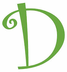 Letter D Initial Vinyl Car Decal Window Sticker Monogram Lettering Ebay