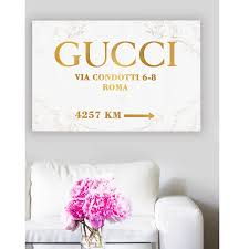 Wall Art Pop Art On Canvas Fashion Road Sign Luxury Glam Poster Pop Art Gucci Gallery Home Decoration 1111 20 X 30 Sold By Omgpopart On Storenvy