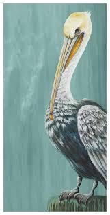 Pelican Landing Beach Ocean Canvas Wall Art Greenbox