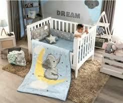 grey moon boy nursery crib bedding set