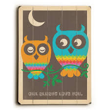 Shop Owl Always Love You Planked Wood Wall Decor By Anderson Design Group Overstock 22576840