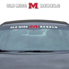 Ole Miss Windshield Decal Fanmats Sports Licensing Solutions Llc