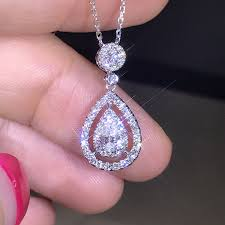 necklace real diamond pendant
