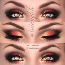 red and black eye makeup pictures