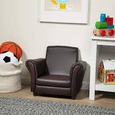 Amazon Com Melissa Doug Child S Armchair Coffee Faux Leather Toys Games
