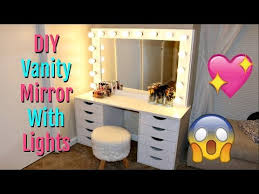 diy vanity mirror with lights under