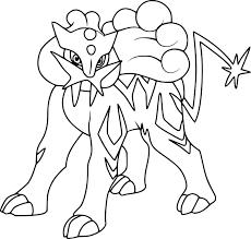 Pokemon Coloring Pages Raikou