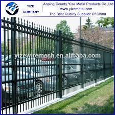 Festnight Metal Garden Gate Heavy Duty Steel Fence Double Door With 2 Posts Gate Panel 300