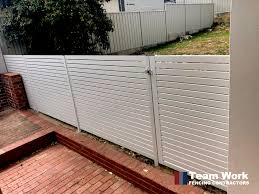 Aluminum Slat Fencing Ezi Slat Colorbond Slat Fences