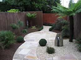 fencing small gardens backyard with
