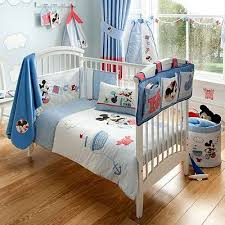 mickey mouse nursery cot bed quilt