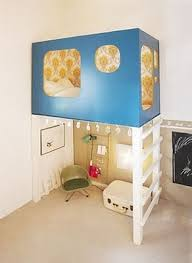 Fort A Day What A Great Idea For A Small Tiny Kids Room A Funky Loft Bunk