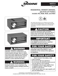 modine manufacturing hdb owner s manual