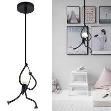 Unique Pendant Light Fixture Hanging Lamp Creative Small Metal Black Chandelier Lighting Adjustable Hanging Light Fixtures For Kids Room Bedroom Dining Room Amazon Com