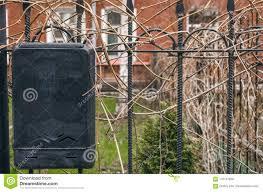 Black Retro Mailbox On The Iron Fence Stock Photo Image Of Flat Envelope 116147948