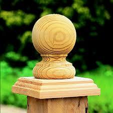 Ball Finials Post Caps Pack Of 2 Forest Garden