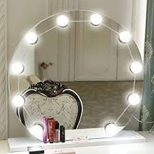 makeup day white vanity mirror