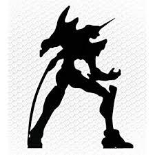 Amazon Com Neon Genesis Evangelion Anime Battle Pose Eva Unit Robot Silhouette Logo Vinyl Stickers Symbol 6 Decorative Die Cut Decal For Cars Tablets Laptops Skateboard Black Color Computers Accessories