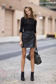 cool and classy leather skirt outfit ideas