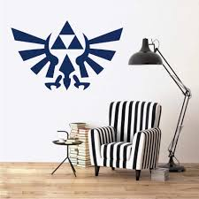 The Legend Of Zelda Breath Of The Decal Triforce Decor Bird Emblem Zelda Logo Removable Wall Sticker For Nintendo Gamer B677 Wall Stickers Aliexpress